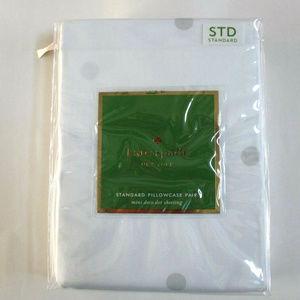 kate spade Mini Deco Dot Sheeting Pillowcase Set